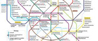 Схема московского метро