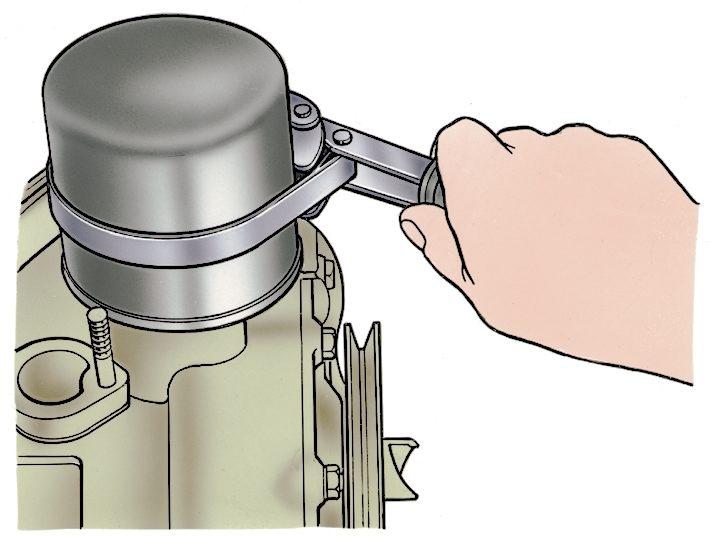 Снятие масляного фильтра